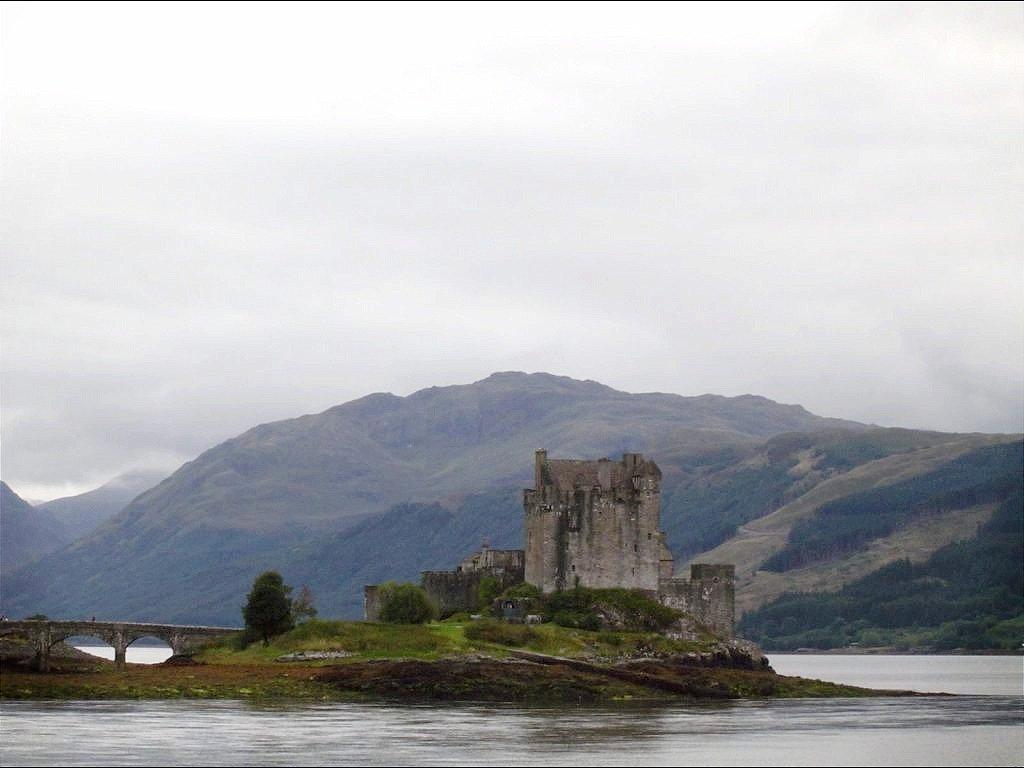 The Eilean Donan Castle Ruins in Scotland