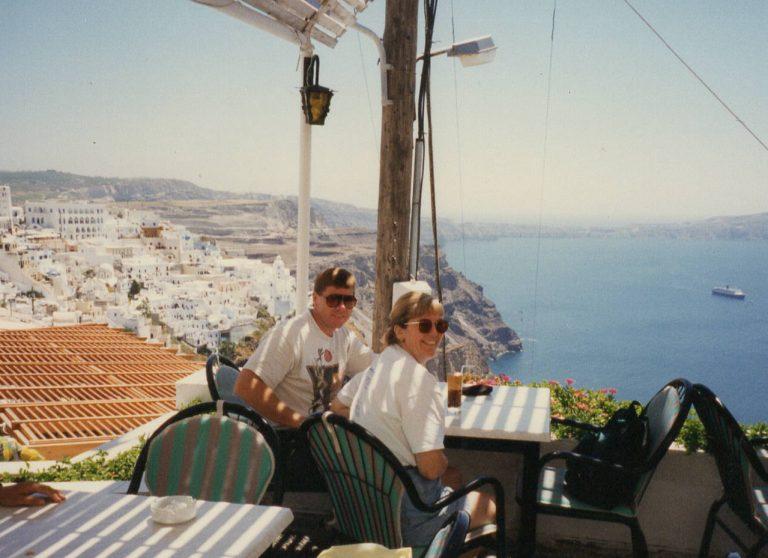 Lunch in Santorini