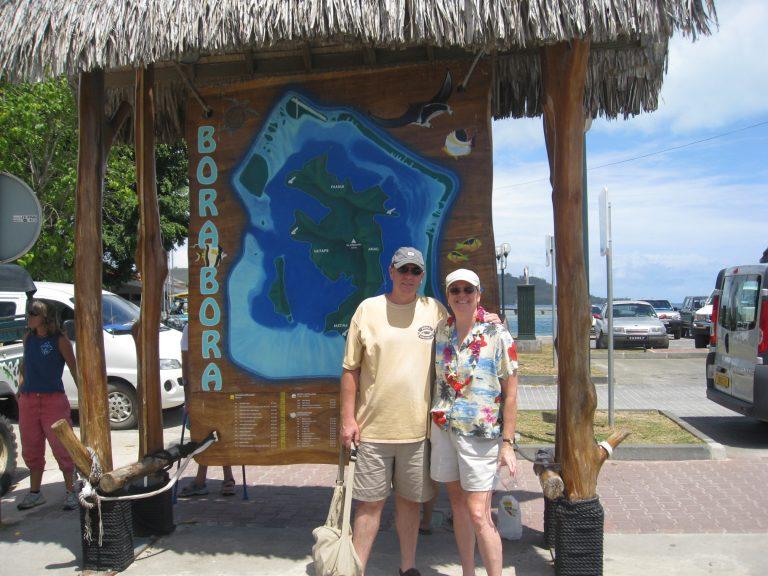 Arriving on the island of Bora Bora